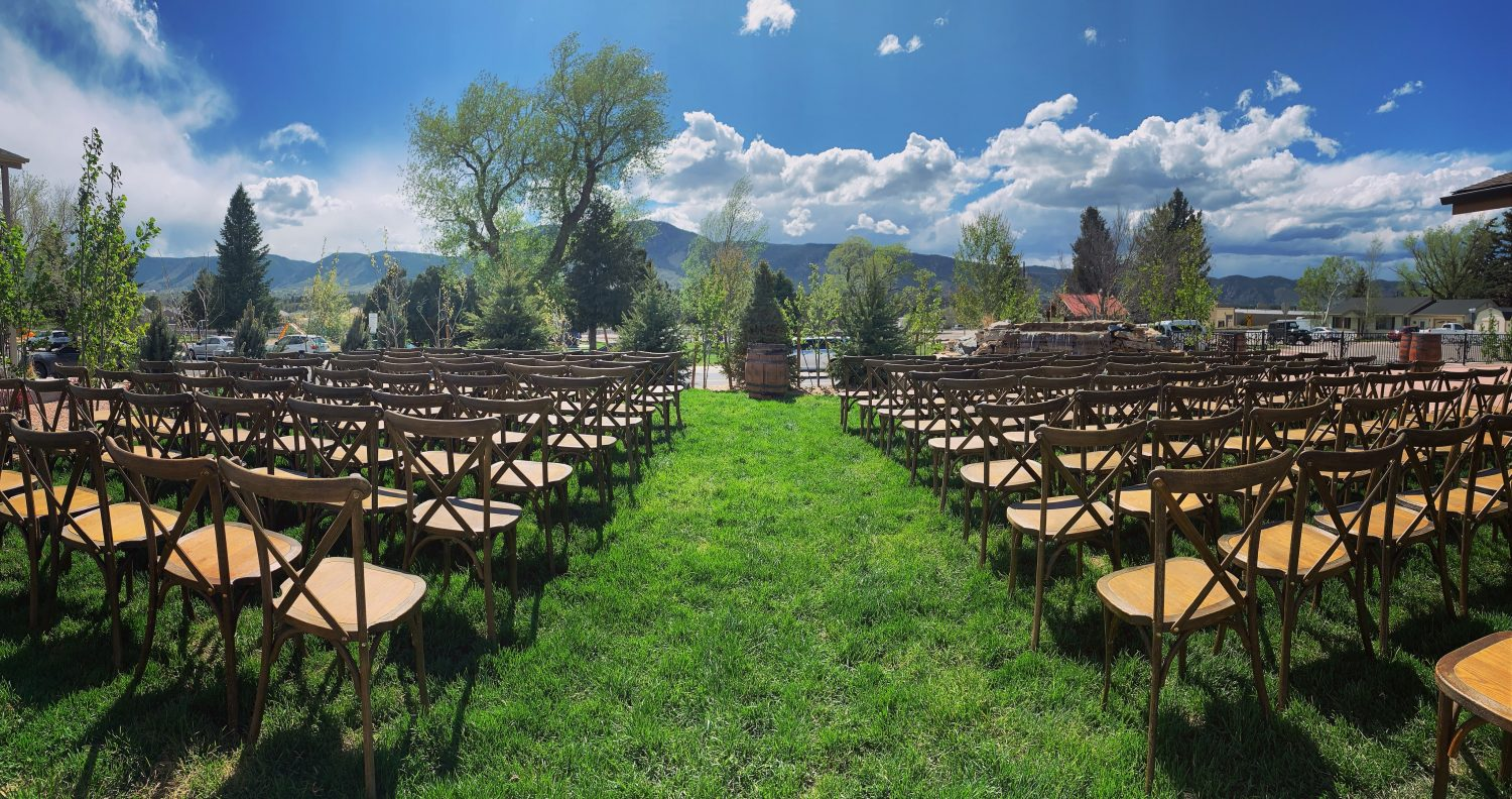 Outdoor Ceremony Setup at Hearth House Hearth House